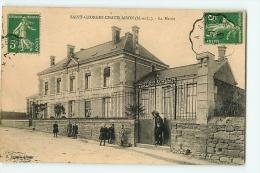 SAINT GEORGES CHATELAISON : La Mairie (animation). 2 Scans. Edition Ogeard - Otros Municipios