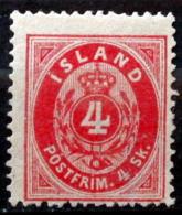 Icland   1873    MiNr.3A   (*)  ( Lot L 2291 ) - Neufs