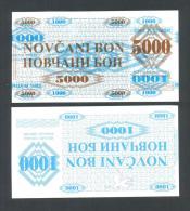BOSNIA - BOSNIA Y HERZEGOVINA:  5000 Dinara On 1000 Dinara 1992 UNC  *MACULATURA - SPOILAGE - MACKLE -  ERROR* - Bosnien-Herzegowina
