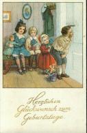 Herzlichen Glückwunsch Zum Geburtstage Kinder Schauen Durch Schlüsselloch 1.8.21 - Geburtstag