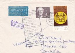 D 022) DDR MiNr 2334 U.a. Luftpost N. Toronto Canada, Zurück, RETURN TO SENDER - Usati
