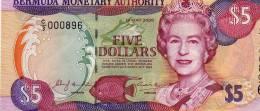 BERMUDA $5 P51 2000 BOAT QUEEN LIGHTHOUSE UNC BANKNOTE - Bermudas