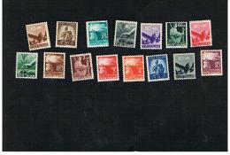ITALIA REPUBBLICA -  UNIF. 543.565 - 1946  DEMOCRATICA: 15 VALORI DELLA SERIE   - NUOVI ** (MINT) - 6. 1946-.. Repubblica