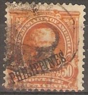 PHILIPPINES - 1903 USA 50c ORANGE (JEFFERSON) O/P PHILIPPINES USED - Philippines