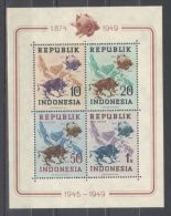 Indonesia - 1949 UPU Block MNH__(TH-10546) - Indonesia