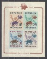 Indonesia - 1949 UPU IMPERFORATE Block MNH__(TH-10544) - Indonesia