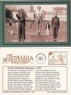 Postcard Grethe Whitehead Budapest 1936 World Student Games 80m Hurdles Dempe Nostalgia Repro - Leichtathletik