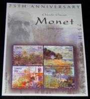 Liberia - 2001 Claude Monet Kleinbogen MNH__(THB-1981) - Liberia