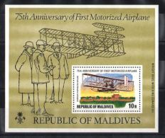Maldives - 1978 Wilbur Wright Block MNH__(TH-2691) - Maldiven (1965-...)