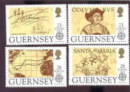 MINT NEVER HINGED SET OF STAMPS  OF SHIPS  #  S - 239-1 ( GUERNSEY  467-70 B OP  COLUMBUS - Barcos