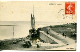 CARTERET (50) - La Cale Avec Bateau - Convoyeur-ligne Carteret à Carentan - Carteret