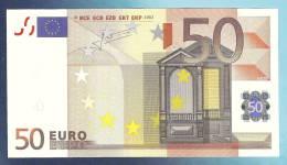 RARE RR 50 EURO BELGIUM T018H4 Serie Z7  AUNC - EURO