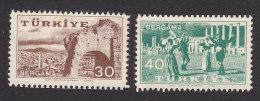Turkey, Scott #1244-1245, Mint Never Hinged, 20th Anniv. Of The Kermis At Bergama, Issued 1957 - 1921-... République