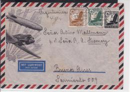 A22  /   Deutsches Reich Brief /  Luftpost Baden Baden - Buenos Aires Argentinien Prachtbrief - Germania