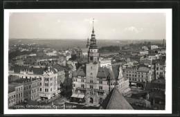 CPA Troppau, Vue Générale Avec Städtischem Museum - Tchéquie