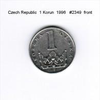 CZECH REPUBLIC    1  KORUN  1996  (KM # 7) - Czech Republic