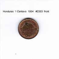 HONDURAS    1  CENTAVO  1954  (KM # 77.2) - Honduras