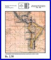 VENEZUELA 1983  ANNIVERSARY OF  SIMON BOLIVAR S/S MAP VF MNH - Geography