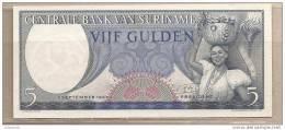 Suriname - Banconota Non Circolata Da 5 Fiorini - 1963 - Suriname