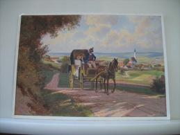 HOCHZEITSREISE PAR PAUL HEY - GALERIE DE MUNICH (EDITIONS F.A. ACKERMANNS KUNSTVERLAG G.M.B.H. MUNCHEN N° 6257) - Peintures & Tableaux