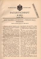 Original Patentschrift - F. Tallowitz In Rückersdorf B. Friedland , 1902 , Karten - Mischmaschine , Dolni Rasnice - Maschinen