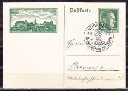 P 272 Hitler Reichsparteitag Nuernberg, Mit Sonderstempel Nach Bremen 1938 (13658) - Postwaardestukken