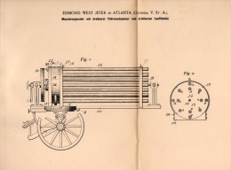 Original Patentschrift - Machine Gun With Rotating Cartridge - Box , 1901 , E. Jeter In Atlanta , Georgia ,USA !!! - Documents