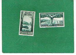 ITALIA REPUBBLICA -   UNIF. 680.681 - 1951 FESTA DEGLI ALBERI    - NUOVI ** (MINT) - 6. 1946-.. Repubblica