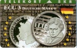 TARJETA DE DINAMARCA DE UNA MONEDA (COIN) GERMANY-ALEMANIA - Sellos & Monedas