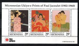 Micronesia - 1991 Paul Jacoulet 29c Kleinbogen MNH__(TH-2593) - Micronesia