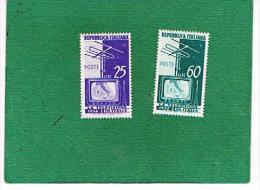 ITALIA REPUBBLICA -   UNIF. 735.736 - 1954   TELEVISIONE     - NUOVI ** (MINT) - 6. 1946-.. República