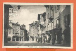 HB054, Domodossola, Piazza Mercato, Circulée 1925 - Otras Ciudades