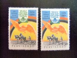 PERU -  AÑO DEL REFUGIADO 1960 - WORLD REFUGEE YEAR   -- Yvert & Tellier Nº PA 157 / 158 (*) - Refugiados