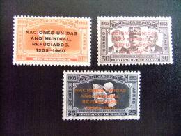 PANAMA REPUBLICA -  AÑO DEL REFUGIADO 1960 - WORLD REFUGEE YEAR   -- Yvert & Tellier Nº PA 213 / 215 (*) - Refugiados