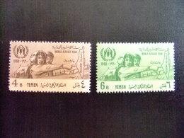 YEMEN  -  AÑO DEL REFUGIADO 1960 - WORLD REFUGEE YEAR   -- Yvert & Tellier Nº 82 / 83 ** MNH - Refugiados