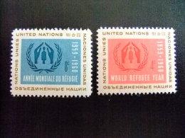 ONU  -  AÑO DEL REFUGIADO 1960 - WORLD REFUGEE YEAR   -- Yvert & Tellier Nº 72 / 73 ** MNH - Refugiados