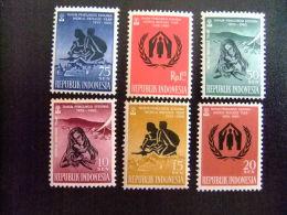 REPUBLIK INDONESIA  -  AÑO DEL REFUGIADO 1960 - WORLD REFUGEE YEAR   -- Yvert & Tellier Nº 209 / 214 ** MNH - Refugiados