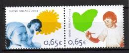Finlande 2004  Neufs N°1689/90 Enfants - Unused Stamps
