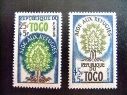REPUBLIQUE DU TOGO -  AÑO DEL REFUGIADO 1960 - WORLD REFUGEE YEAR   -- Yvert & Tellier Nº 307 / 308 ** MNH - Refugiados