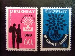 URUGUAY -  AÑO DEL REFUGIADO 1960 - WORLD REFUGEE YEAR   -- Yvert & Tellier Nº 678 + PA 206 ** MNH - Refugiados