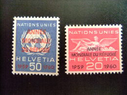 SUIZA HELVETIA -  AÑO DEL REFUGIADO 1960 - WORLD REFUGEE YEAR   -- Yvert & Tellier Nº Servicio 408 / 409 ** MNH - Refugiados