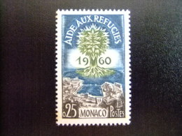 MONACO -  AÑO DEL REFUGIADO 1960 - WORLD REFUGEE YEAR   -- Yvert & Tellier Nº 523 ** MNH - Refugiados