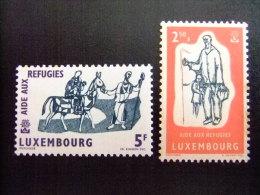 LUXEMBOURG -  AÑO DEL REFUGIADO 1960 - WORLD REFUGEE YEAR   -- Yvert & Tellier Nº 576 / 577 ** MNH - Refugiados