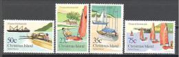 Christmas: Yvert N°175/8**; MNH; Luxe; Bateaux; Voiliers; Régate - Christmas Island