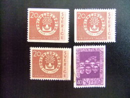 SUECIA -  SVERIGE -  AÑO DEL REFUGIADO 1960 - WORLD REFUGEE YEAR   -- Yvert & Tellier Nº 448 / 449 + 448a (*) - Refugiados