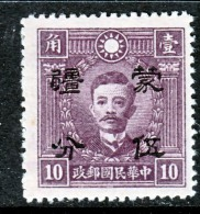 Japanese Occupation  MENG CHIANG    2 N 85     **. 1942 Issue - 1941-45 Northern China