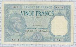 20 Francs Bayard, Ref Fayette 11-3, état SUP++ - 1871-1952 Circulated During XXth