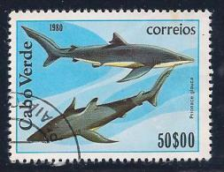 Cape Verde, Scott # 415 Used Sharks, 1980 - Cape Verde