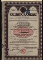 SELANIK BANKASI - BANQUE De SALONIQUE 1888 - Action A - Banque & Assurance
