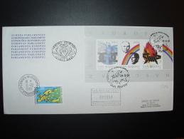 BLOC SHEET BLOCK SAN MARINO NUOVA EUROPA FDC CONSEIL EUROPE TIRAGE LIMITE. - Lettres & Documents